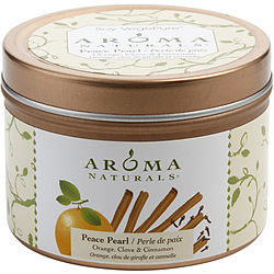 ONE 2.5x1.75 inch TIN SOY AROMATHERAPY CANDLE.  COMBINES THE ESSENTIAL OILS OF ORANGE