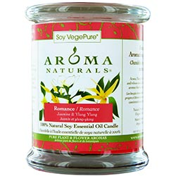 ONE 3X3.5 inch MEDIUM GLASS PILLAR SOY AROMATHERAPY CANDLE.  COMBINES THE ESSENTIAL OILS OF YLANG YLANG & JASMINE TO CREATE PASSION AND ROMANCE.  BURNS APPROX. 45 HRS. - U