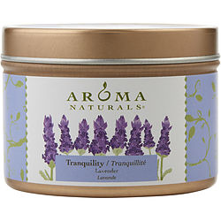 ONE 2.8oz SMALL SOY TO GO TIN  AROMATHERAPY CANDLE.  THE ESSENTIAL OIL OF LAVENDER IS KNOWN FOR ITS CALMING AND HEALING BENEFITS.  BURNS APPROX. 15 HRS.