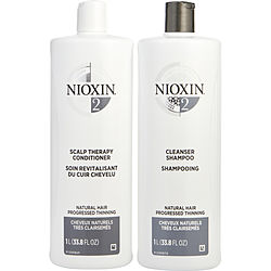 SYSTEM 2 SCALP THERAPY CONDITIONER AND CLEANSER SHAMPOO FOR NATURAL HAIR WITH PROGRESSED THINNING LITER DUO