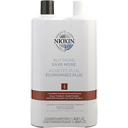 SYSTEM 4 SCALP THERAPY CONDITIONER AND CLEANSER SHAMPOO FOR COLORED HAIR WITH PROGRESSED THINNING LITER DUO