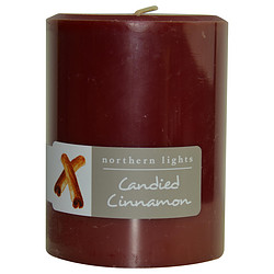 ONE 3x4 inch PILLAR CANDLE.  BURNS APPROX. 80 HRS.