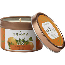ONE 2.5x1.75 inch TIN SOY AROMATHERAPY CANDLE. COMBINES THE ESSENTIAL OILS OF ORANGE & CEDAR. BURNS APPROX. 15 HRS.