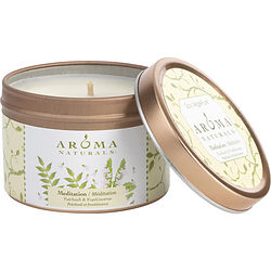 ONE 2.5x1.75 inch TIN SOY AROMATHERAPY CANDLE. COMBINES THE ESSENTIAL OILS OF PATCHOULI & FRANKINCENSE TO CREATE A WARM AND COMFORTABLE ATMOSPHERE. BURNS APPROX. 15 HRS.
