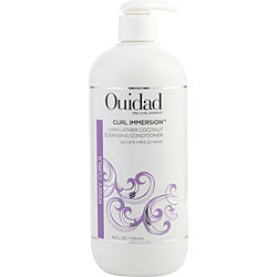 OUIDAD CURL IMMERSION LOW-LATHER COCONUT CREAM CLEANSING CONDITIONER 16 OZ