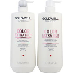 DUALSENSES COLOR EXTRA RICH SHAMPOO AND CONDITIONER LITER DUO